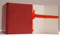 Handbound book by Sol Rebora. Binding of original works, covered in leather, doublure in leather, paper flyleaf.