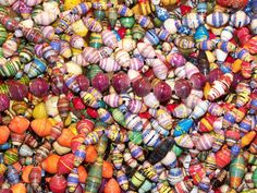 Recycled Magazine Hand Rolled Bead Necklaces