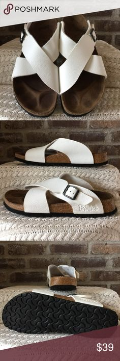 Birkis Women's size 9 Birkis made in Germany. The foot bed is filled in so they are a medium width they have been worn but still have a lot of life left Birkis Shoes Sandals