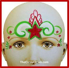 Weihnachtsstern Kronprinzessin Schminken- -  Chicago Face Painter http://theclassyclown.com/