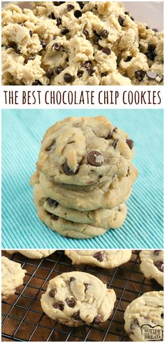 The best Chocolate Chip Cookies are soft, chewy and easy to make too! After tryi… The best Chocolate Chip Cookies are soft, chewy and easy to make too! After trying dozens of different chocolate chip cookie recipes, this one is the best! Homemade Chocolate Chip Cookies, Chocolate Chip Recipes, Chocolate Chip Cookie Recipe Variations, Chocolate Chip Cookies Chewy, Best Chocolate Cookie Recipe, Chocolate Cake, Chocolate Chip M&m Cookies, Healthy Chocolate, Cookie Recipes