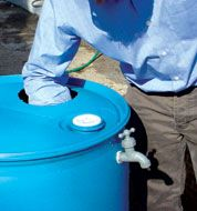 How to Build a Rain Barrel - Water Resources Rain Barrel System, Bonding Activities, Homestead Gardens, Gallon Of Water, Thing 1, Water Resources, Water Storage, Lawn Care, Emergency Preparedness