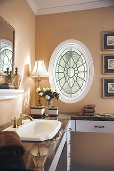 """Hy-Lite 23"""" x 35"""" Black Patina Leaded Beveled Oval Privacy Picture Window"""