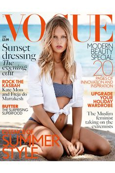 Anna Ewers by Patrick Demarchelier for Vogue UK June 2015 cover