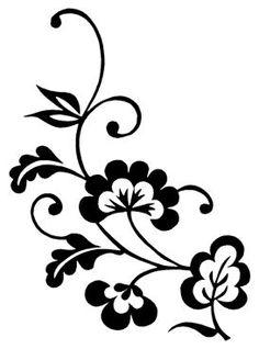 Álbum de imágenes para la inspiración | Aprender manualidades es facilisimo.com Pencil Sketch Drawing, Floral Drawing, Wall Drawing, Bird Stencil, Stencil Art, Stencil Designs, Hand Embroidery Patterns, Embroidery Designs, Glass Etching Stencils
