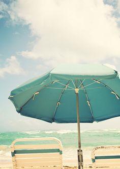Beach Umbrella Photo Fine Art Photography aqua by Kim Fearheiley Photography Costa, Beach Umbrella, Sun Umbrella, Beach Posters, Bleu Turquoise, Aqua Blue, I Love The Beach, Parasol, Summer Dream