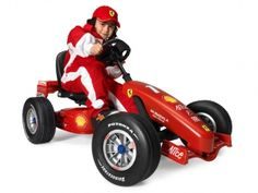 BERG Toys Ferrari F1 Pedal Go-Kart 24.23.44  Price: $525.00  Retail Price: 535.00    BERG Toys Ferrari F1 Pedal Go-Kart Driving a real Ferrari is the ultimate boys dream. BERG Toys now makes this dream come true with the Ferrari F1 Pedal Go-Kart. The design is inspired by the most successful formula 1 car in history...Read More