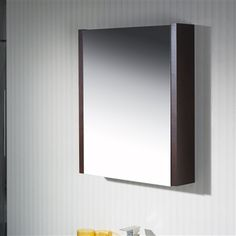 Mirror Cabinet 24 with Wood Sides