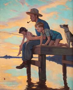 John Gannam Reminds me of Norman Rockwell