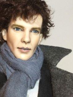 Shannon @ipaintdolls - fantastic Cumberbatch repaint. ^kv #dollchat