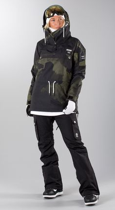 "Dope ""Annok W Green Camo"" Snowboard clothing Snowboarding Quotes, Snowboarding Style, Snowboarding Women, Ski And Snowboard, Snow Outfit, Snow Fashion, Snow Skiing, Avon, Adidas"