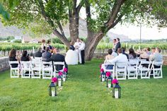 """""""A Winery Wedding in Palisade, Colorado"""": A great article about Amy and Tom's wedding this year at Canyon Wind Cellars from Colorado Weddings Magazine. www.canyonwindcellars.com"""