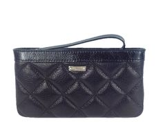 Kate Spade Gold Coast Quilted Leather Chrissy Zip Wristlet, Black