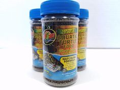 3 Zoo Med Natural Aquatic Turtle Food Hatching Formula Vitamins