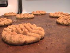 South Beach Diet (Phase 1) Peanut Butter Cookies--- 1c. peanut butter, 1 egg, 1c. Splenda; 350' 9-10 min.