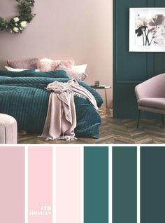 10 Best Color Schemes for Your Bedroom Deep ocean Teal Mauve , blush color . - 10 Best Color Schemes for Your Bedroom Deep ocean Teal Mauve , blush color palette, colo… - Room Colors, Warm Bedroom Colors, Bedroom Paint Colors, Teal Bedroom, Bedroom Color Schemes, Bedroom Colors, Fresh Bedroom, Home Decor, Small Bedroom Colours