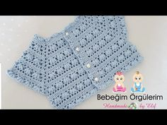 IG ~ ~ crochet yoke for girl's dress ~ finished yoke before joining the underarms Gilet Crochet, Crochet Yoke, Crochet Vest Pattern, Crochet Baby Cardigan, Baby Girl Crochet, Crochet Baby Clothes, Baby Knitting Patterns, Crochet For Kids, Crochet Stitches