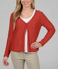Another great find on #zulily! Coral Gables Sparkler Knit Cardigan by Celebrating Grace #zulilyfinds