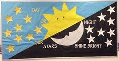 Day or Night Our Stars Shine Bright Bulletin Board Idea