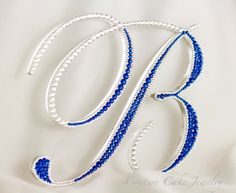 Crystal Covered & Bordered Single Letter Cake Topper on SALE during the last week of November!