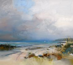 Sailing, West Wittering. Oil on panel. 76 x 86 cm. David Atkins