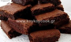 Chewy Chocolate Brownies Recipe by Rida Aftab Vegan Cake, Vegan Desserts, A Food, Food And Drink, Tasty, Yummy Food, Brownie Bar, Chocolate Brownies, Cooking Recipes