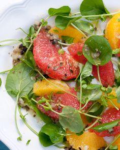 Watercress Citrus Salad with Olive-Caper Vinaigrette