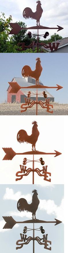 Weathervanes 20512: Rooster Weathervane - Chicken - Weather Vane - Vintage Look - W Choice Of Mount -> BUY IT NOW ONLY: $55.95 on eBay!