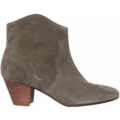 Isabel Marant Dicker suede boots ($457) ❤ liked on Polyvore featuring shoes, boots, grey, gray suede boots, side zipper boots, summer boots, side zip boots and grey boots