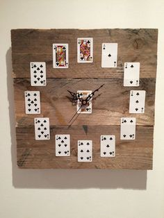 Playing Card clock made to order From £40 tracyf1@btinternet.com
