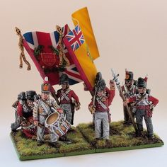 First steps to build up another Battailon (30th Foot Line Cambridge) with Perry Miniatures