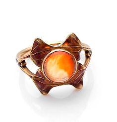 Ring. Rene Lalique (1860-1945). Opal, enamel, gold