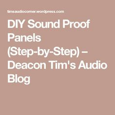 I have long said that you can always save money in any project/home studio by building what would normally be expensive things like desks, etc. Sound proofing panels are no exception. Acoustic Wall, Acoustic Panels, Recording Studio Home, Audio Room, Room Planning, Home Cinemas, Room Pictures, Sound Proofing, Blog
