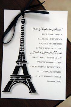 Paris prom invitation