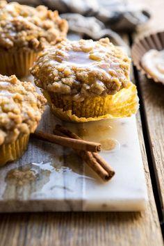 Pumpkin Coffee Cake Muffins with Cinnamon Honey Butter - Breakfast - Sweet - Pumpkin Coffee Cakes, Coffee Cake Muffins, Brownies, Cinnamon Honey Butter, Cinnamon Coffee, Half Baked Harvest, Fall Baking, Savoury Cake, Cookies