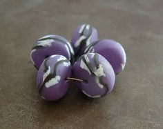 Orchid Willow Disk Beads - Humble Beads (Heather Powers)