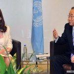 La Jefa de Estado Cristina Fernández de Kirchner se reunió con Ban Ki-moon
