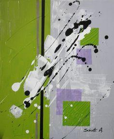 (Peinture acrylique, mortier de structure et collage papier sur toile, 38 x 46 cm) (VENDU)