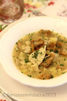 Zuppa di porcini e finferli