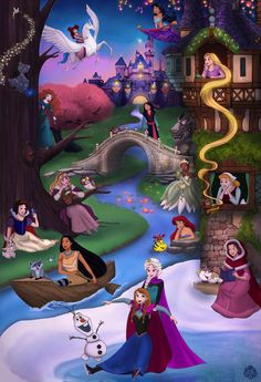 Princess Collage by Miss-Melis on DeviantArt - Disney princess wallpaper - Disney Princess Pictures, Disney Princess Drawings, Disney Princess Art, Disney Fan Art, Disney Pictures, Disney Drawings, Disney Collage, Drawing Disney, Disney Princess Paintings