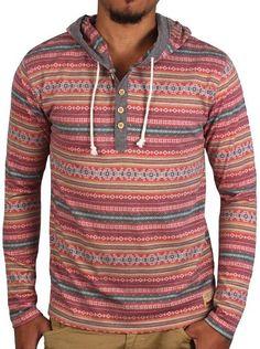 Native Striped Hoodie with Chambray Trim Chambray, Men Sweater, Hoodies, Long Sleeve, Sweaters, Fashion, Moda, Sweatshirts, Long Dress Patterns