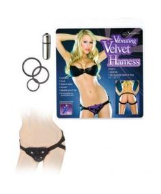 Vibrating Velvet Harness. Strap on harness with vibrating bullet: For those looking for a quality harness at a solid value this Strap-On is a best buy #vibrator #lingerie