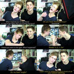 Cheeky Jack;) Jack Harries and Casper Lee British youtubers