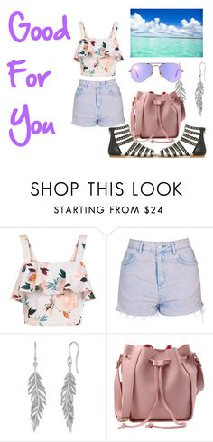 """""""Good For You"""" by bowkam ❤ liked on Polyvore featuring New Look, Topshop and Ray-Ban"""