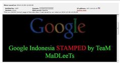 Hacked η Google στην Ινδονησία - https://iguru.gr/2014/10/07/google-indonesia-defaced/