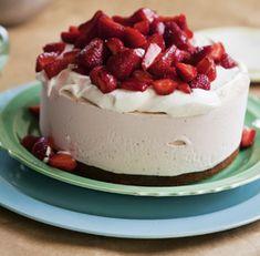 Balsamic Strawberry Ice Cream Cake