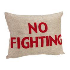 """alexandra ferguson No Fighting 14x18"""" Decorative Pillow (Vine.com - 1% donation)"""