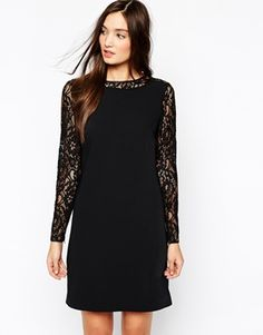 Reiss Cersei Shift Dress in Lace
