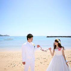 木曜日#weddingtbt ・ 手作り赤い糸でビーチフォト! ・ #新婚旅行 #honeymoon #ハワイ #Hawaii #ビーチフォト #後撮り #ビーチ #赤い糸 #weddingdiy #ウエディング #ウエディングソムリエフォトコンテスト @jadore_wedding
