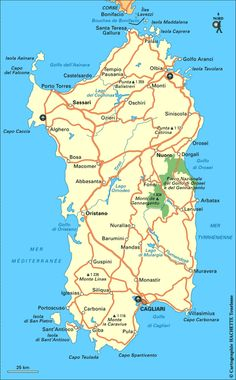 Carte Sardaigne - Plan Sardaigne